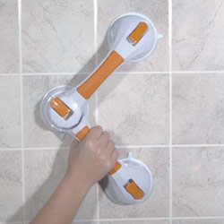 Multi-Position Suction Cup Grab Bar for Bath Safety