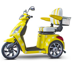 E-Wheels Happy Day Lemon Yellow Custom Electric Mobility Scooter