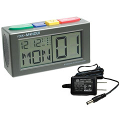 Talking Personal Recording Alarm Clock with Adapter