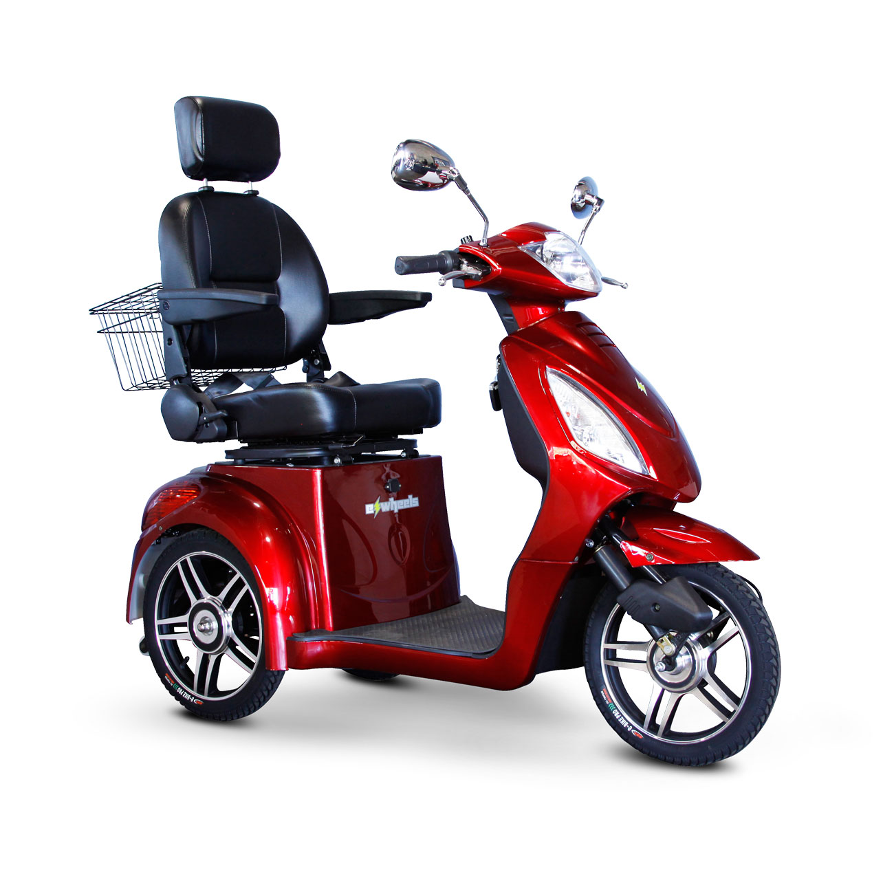 E-Wheels EW-36 3-Wheel Electric Senior Mobility Scooter - Red