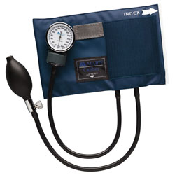 Caliber Series Infant Aneroid Sphygmomanometer with Blue Nylon Cuff