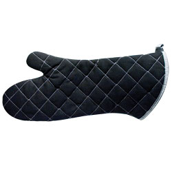 Reizen Flame Retardant Oven Mitt, 17 inches - Black