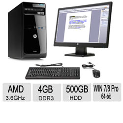 Desktop PC with Screen Reader-4GB Memory-500GB HDD