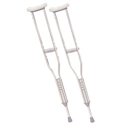 Push-button Aluminum Crutches - Adult Size