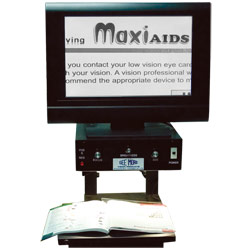 See-More Simplicity Inline Electronic Magnifier- 19-in. B and W Flatscreen