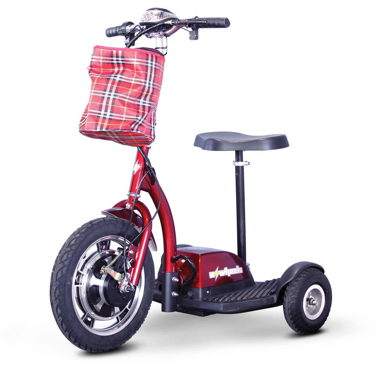 E-Wheels EW-18 Stand-N-Ride 3-Wheel Electric Mobility Scooter - Red