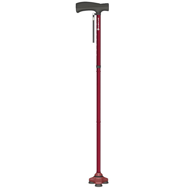 HurryCane Freedom Edition Folding Standing All Terrain Cane - Red