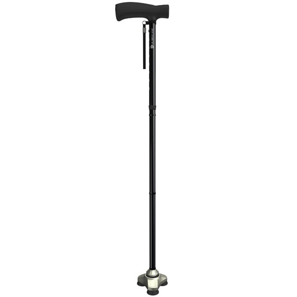 HurryCane Freedom Edition Folding Standing All Terrain Cane - Black