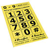 Telephone Stickers - Black on Yellow - Numbers Only