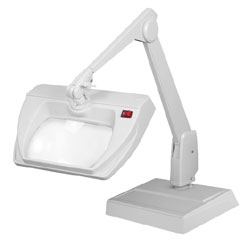 Dazor Stretchview ESD Safe Clamp Base LED Magnifier 5D 2.25X - Grey