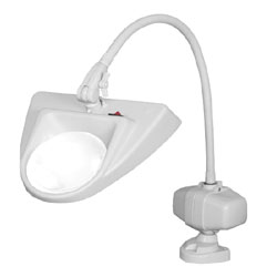 Dazor 30-Inch Hi-Lighting Clamp Base Magnifier 3-Diopter 1.75X - Grey